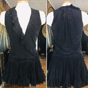 Flavio Castellani Ruffle Silk Dress
